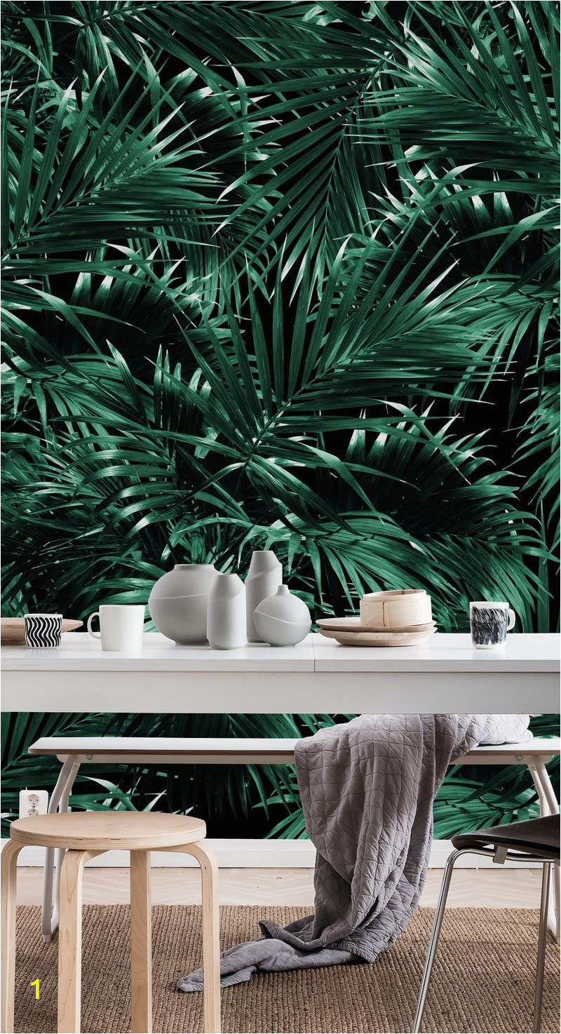 Tropical Leaf Wall Mural Tropical Palm Leaf Jungle 12 Wall Mural Wallpaper Patterns