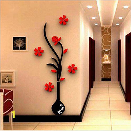 Tuscan Wall Murals Wallpaper $11 25 Foerteng Diy Vase Flower Tree Wall Decals Crystal
