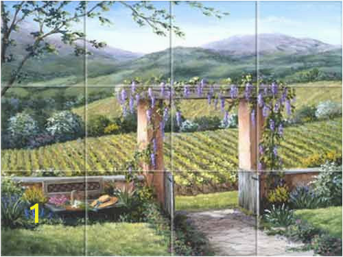 Tuscan Wall Murals Wallpaper Tile Murals Landscapes Tuscan Italian Provence French Old