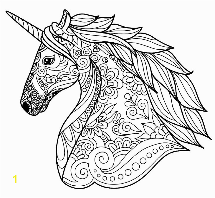 Unicorn Animal Coloring Pages Detailed Unicorn Coloring Page