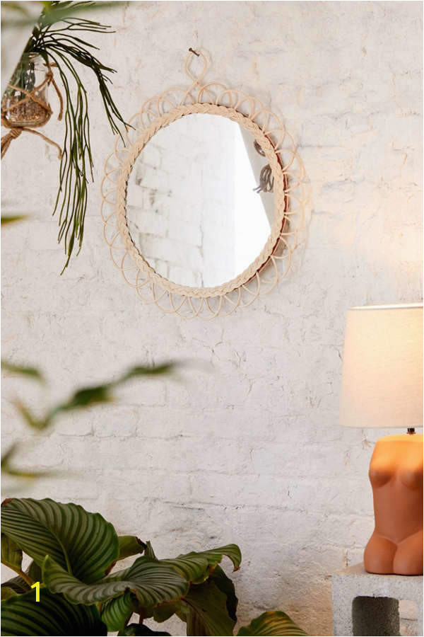 Urban Outfitters Wall Mural Anya Rattan Loop Round Wall Mirror In 2019