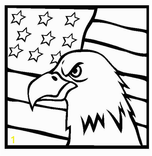 Veterans Day Coloring Pages Printable American Eagle and Us Flag Veterans Day Coloring Page
