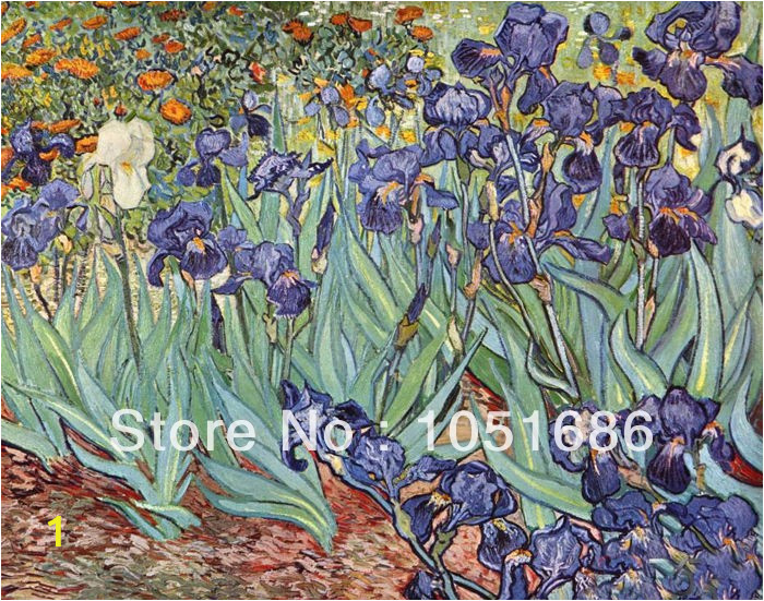 Quietly Irises Vincent Van Gogh Famous Paintings Reproductions Hand Painted Canvas Picture Flower Oil Wall Art