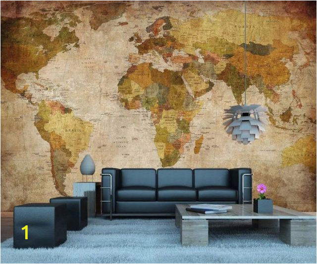 Vintage Map Wall Mural Vintage World Map Wall Mural In 2019 Dorm Stuff
