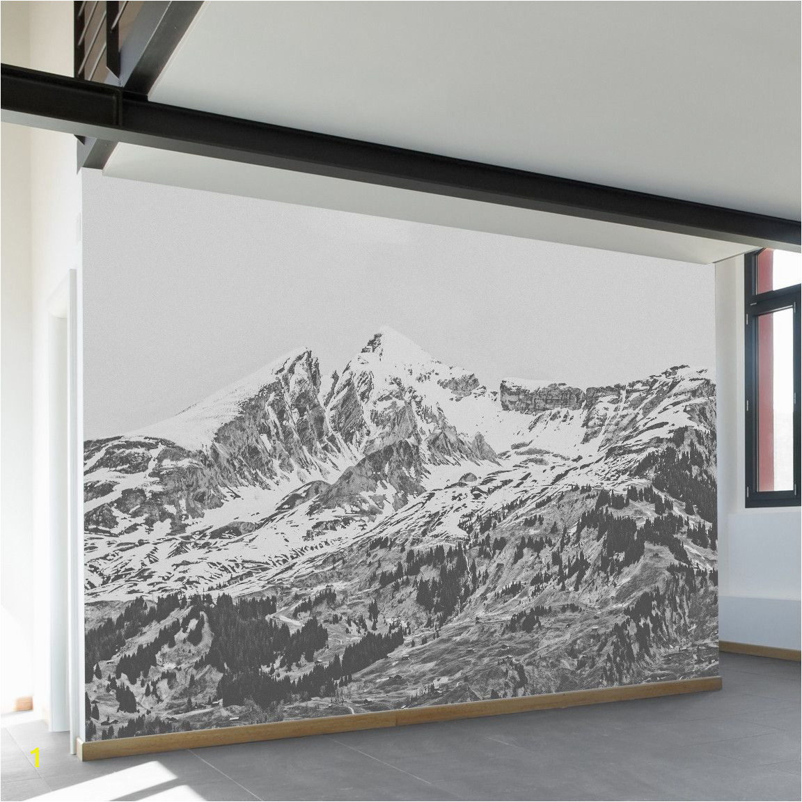 Wall and Mural Stencils Grindelwald Wall Mural Home Improvement