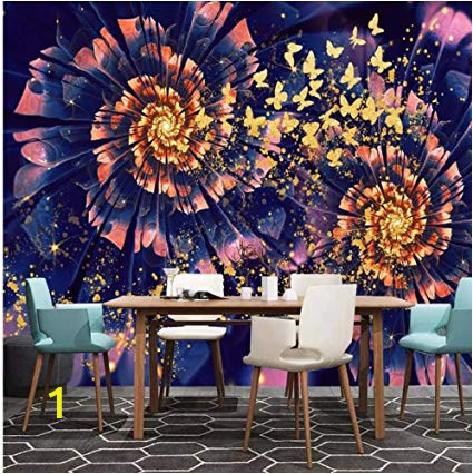 Wall Art Wallpaper Murals Uk Modern Dreamy Golden butterfly Flower Wall Murals