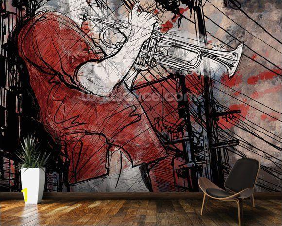 Wall Art Wallpaper Murals Uk Street Saxophone Player