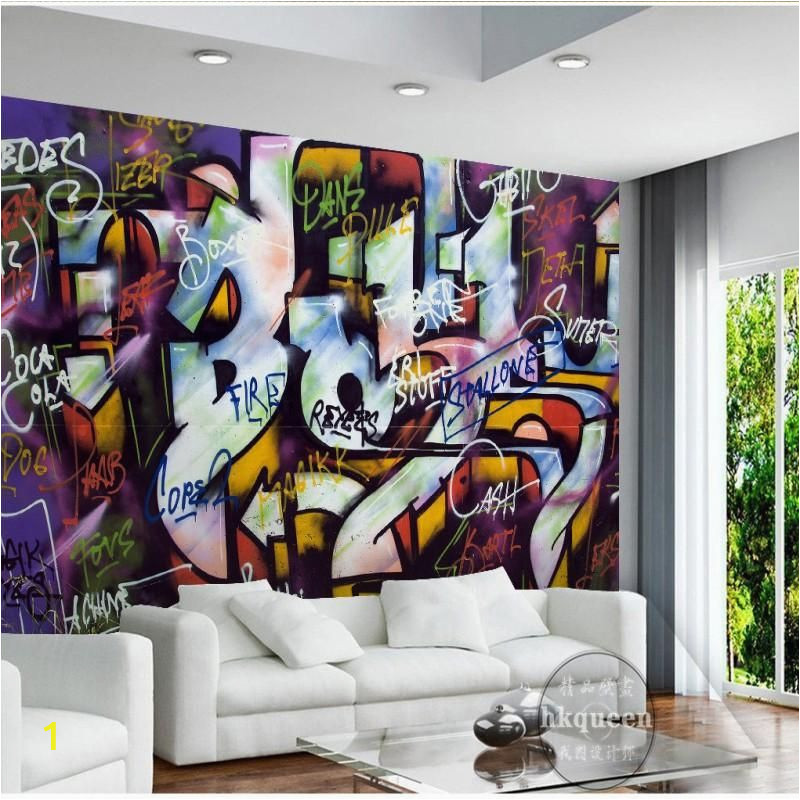 Wall Mural for Bar Custom Mural Wallpaper Street Art Graffiti Design Bar Cafe