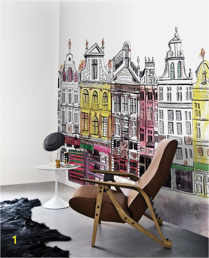 Wall Mural for Hallway Brussels Wall Mural Wallpaper Wall Home Decor