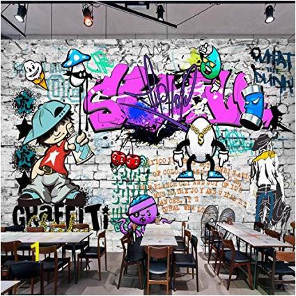 Wall Mural Graffiti Art Afashiony Custom 3d Wall Mural Wallpaper Fashion Street Art