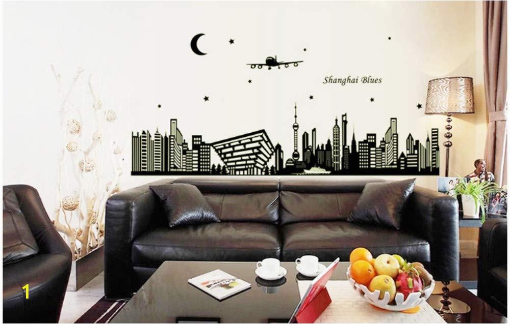Wall Mural Installation Instructions Amazon Msszff 3d Luminous Wall Stickers Shanghai