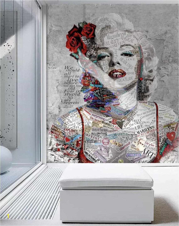 Wall Mural Pop Art Pop Art Wallpaper Marilyn Monroe Wall Mural Typographie Wall