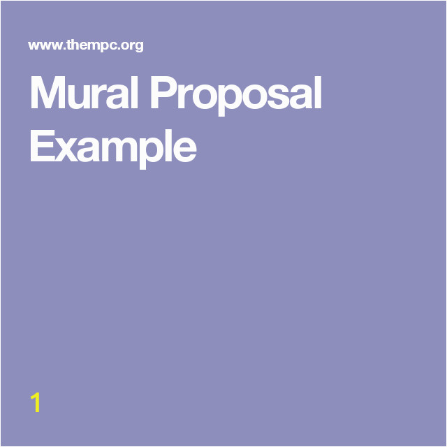 Wall Mural Proposal Template Mural Proposal Example