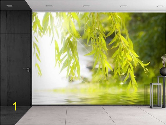Wall Mural Removable Sticker Tree Framing A Serene Lake Wall Mural Removable Sticker