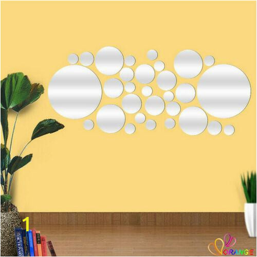 Wall Mural Stickers Singapore ✤od✤crystal Mirror Decal Art Mural Wall Stickers Home Decor Diy Room Decoration