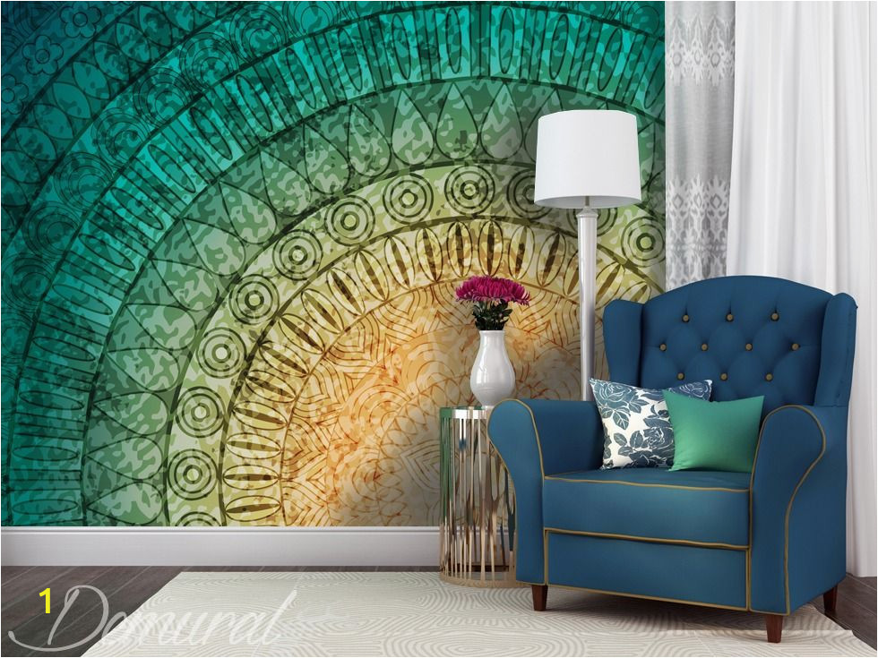 Wall Murals and Posters A Mural Mandala Wall Murals and Photo Wallpapers Abstraction