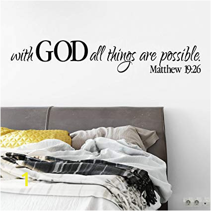 Wall Murals by Wall 26 Amazon Decals Matthew 19 26 Wall Decal Scripture