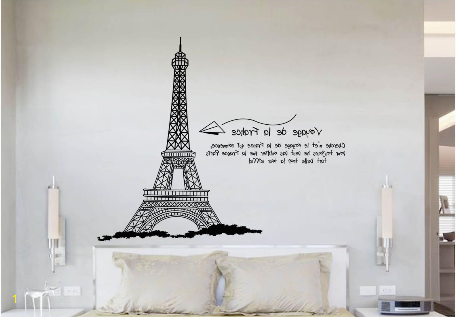 eiffel tower wall hanging art in widely used eiffel tower wall quote decal sticker home decoration wallpaper