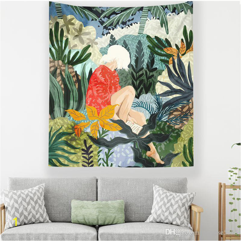 summer girl room college dorm wall hanging