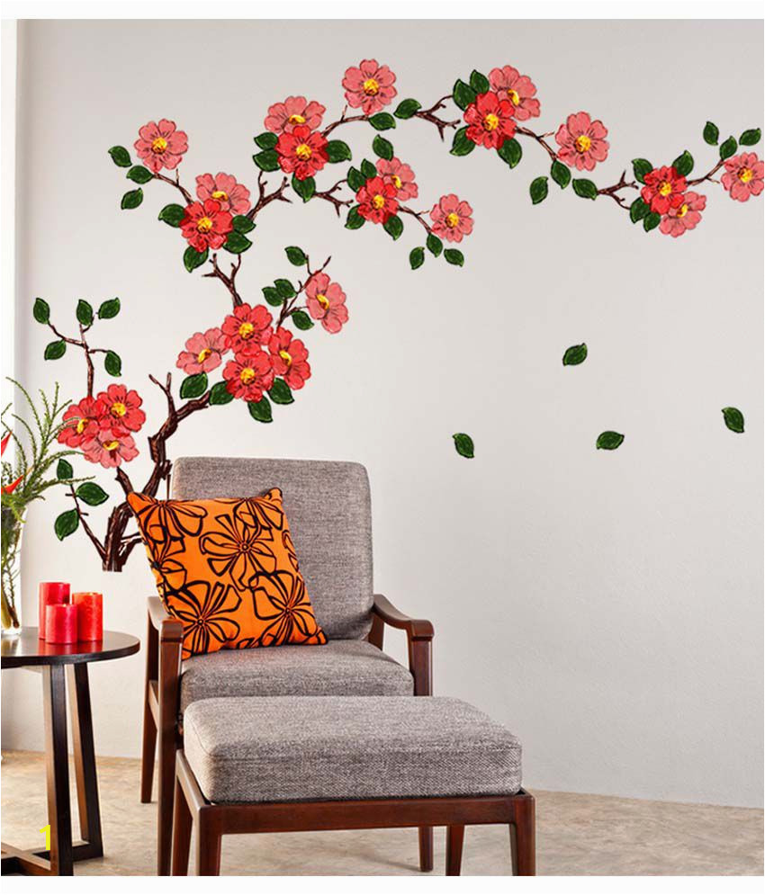 Stickerskart Multicolor Floral Branch Sofa SDL 1 78bfc