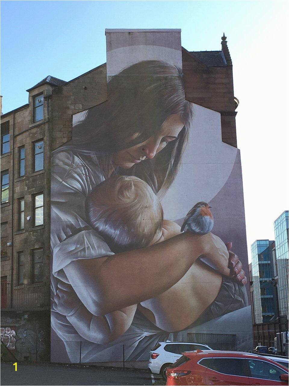 st enoch and child mural