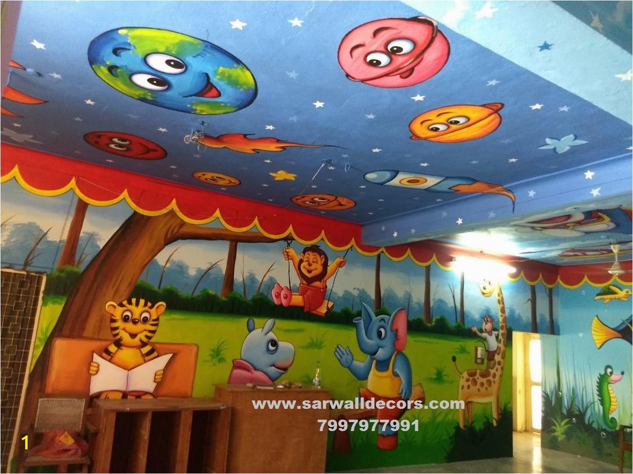 Wall Murals In Hyderabad Primary School Wall Paintings Hyderabad Nursery School Wall