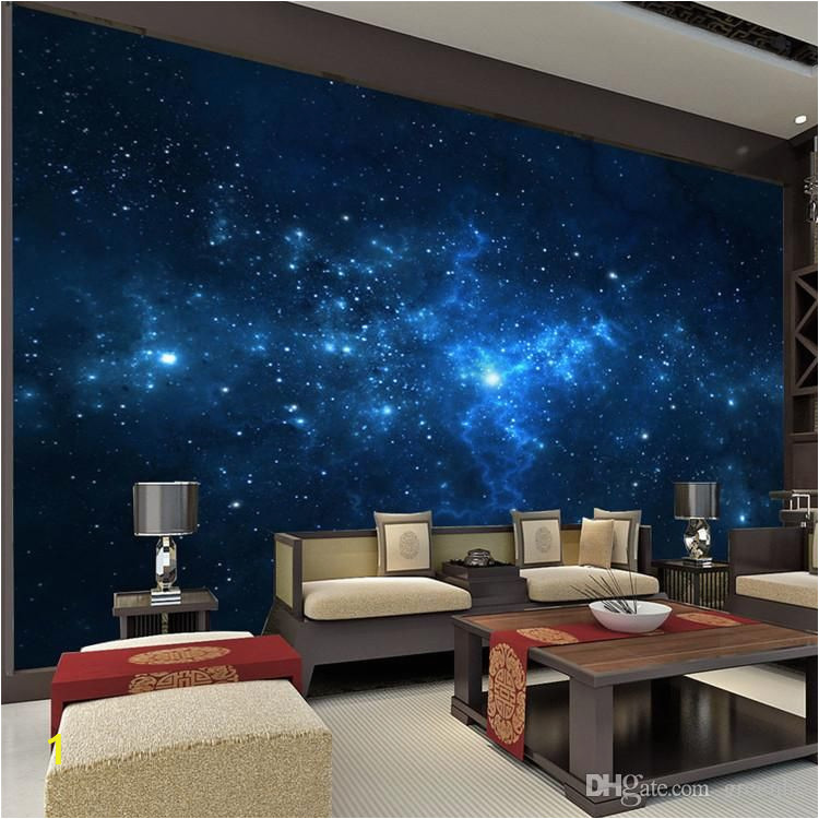 Wall Murals Night Sky Blue Galaxy Wall Mural Beautiful Nightsky Wallpaper