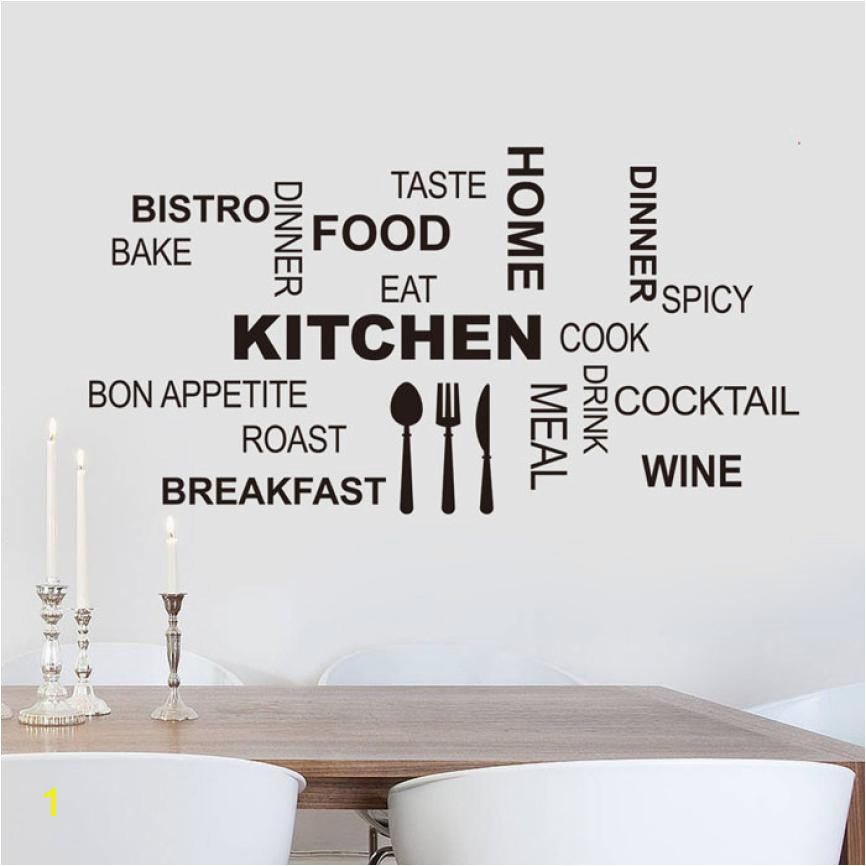 Home Decor Kitchen Letter Removable Vinyl Wall Stickers Mural Decal Quotes Art Home Decor wall sticker