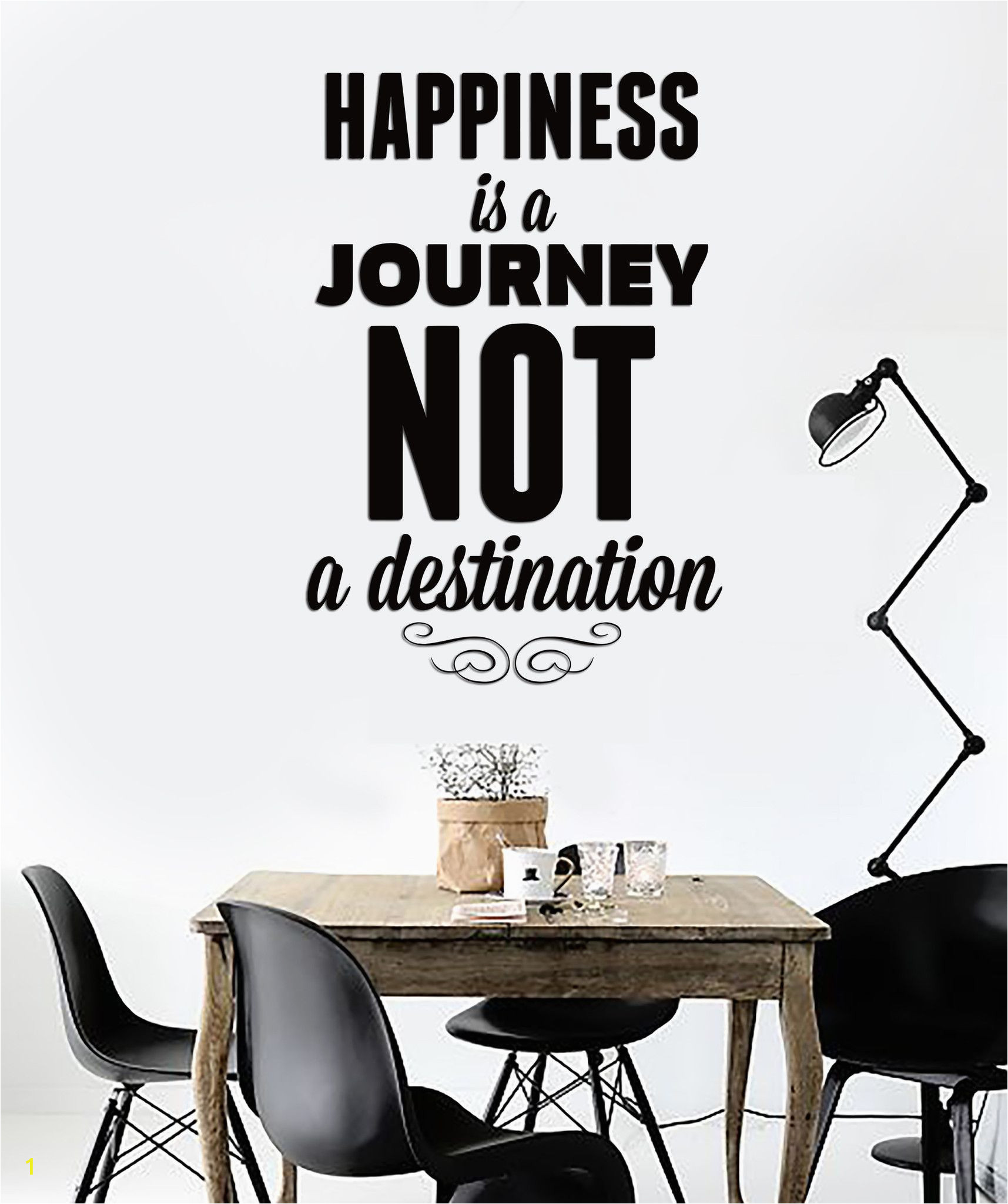 Wall Murals with Words Wall Sticker Quotes Words Happiness is A Journey Not A
