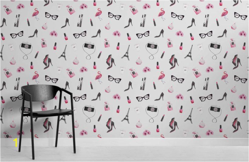 Fashion Illustration Wallpaper Mural Room 820x532