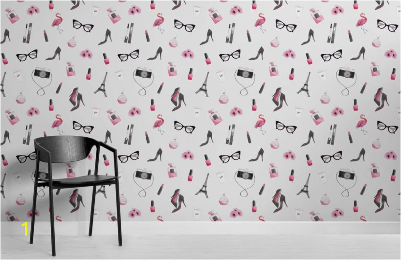 Fashion Illustration Wallpaper Mural Room 820x532