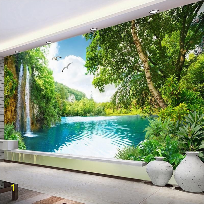 Walltastic Paradise Beach Wall Mural Mural Wallpaper Waterfall Nature Landscape