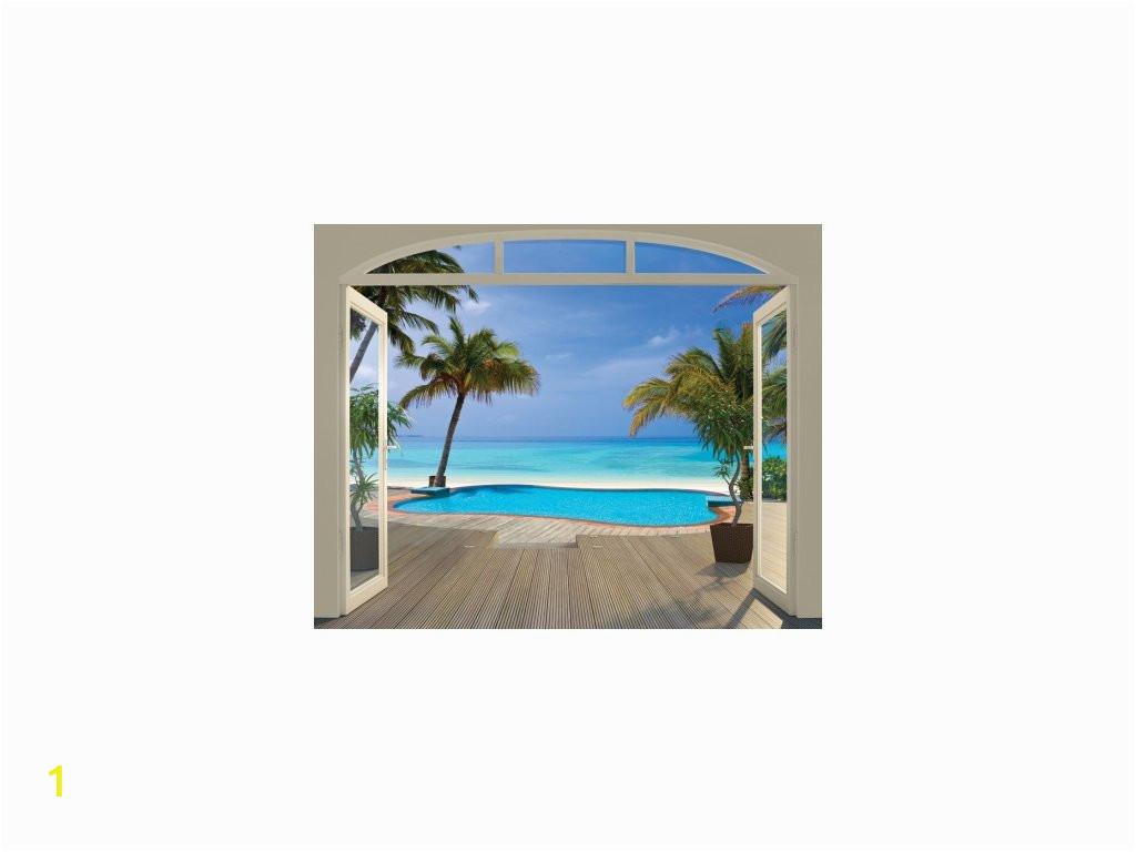 8001 paradise beach tapeta 3d walltastic