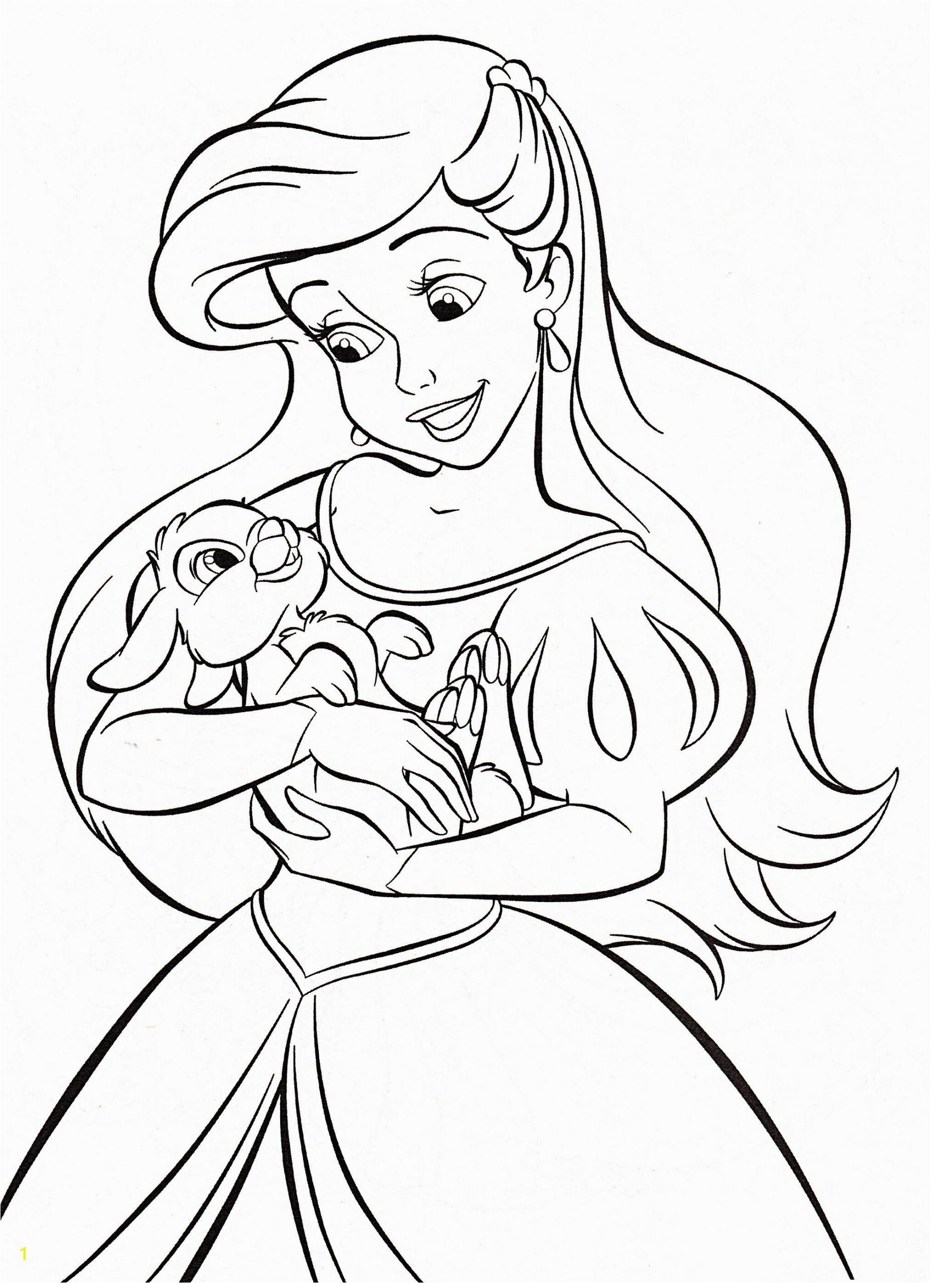 Walt Disney Princesses Coloring Pages Of Walt Disney Coloring Pages Princess Ariel for