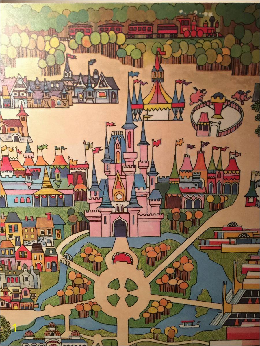 Walt Disney World Wall Murals Rare original 1971 Walt Disney World Map Wall Art From Polynesian Hotel