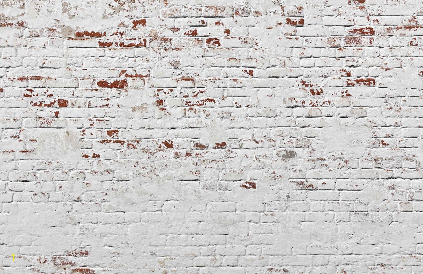 Warehouse Brick Wall Mural White Warehouse Brick Wall Mural Decor