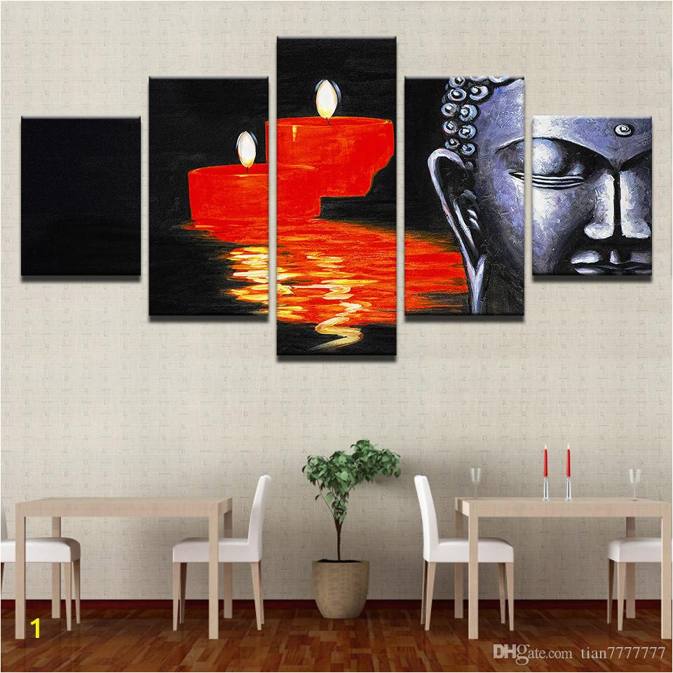 hd print canvas painting 5 pcs set buddha