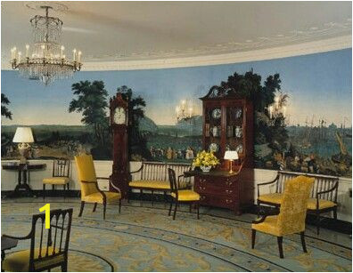 White House Wall Murals Zuber Wallpaper In A Room In the White House