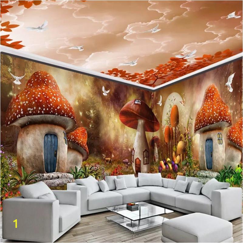 Custom 3d wallpaper Cartoon fairy tale full house wall mural Children s wallpaper nursery kindergarten wallpaper