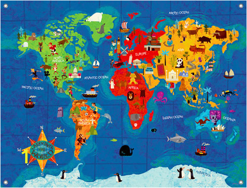 Big Wide World Wall Mural PE3304