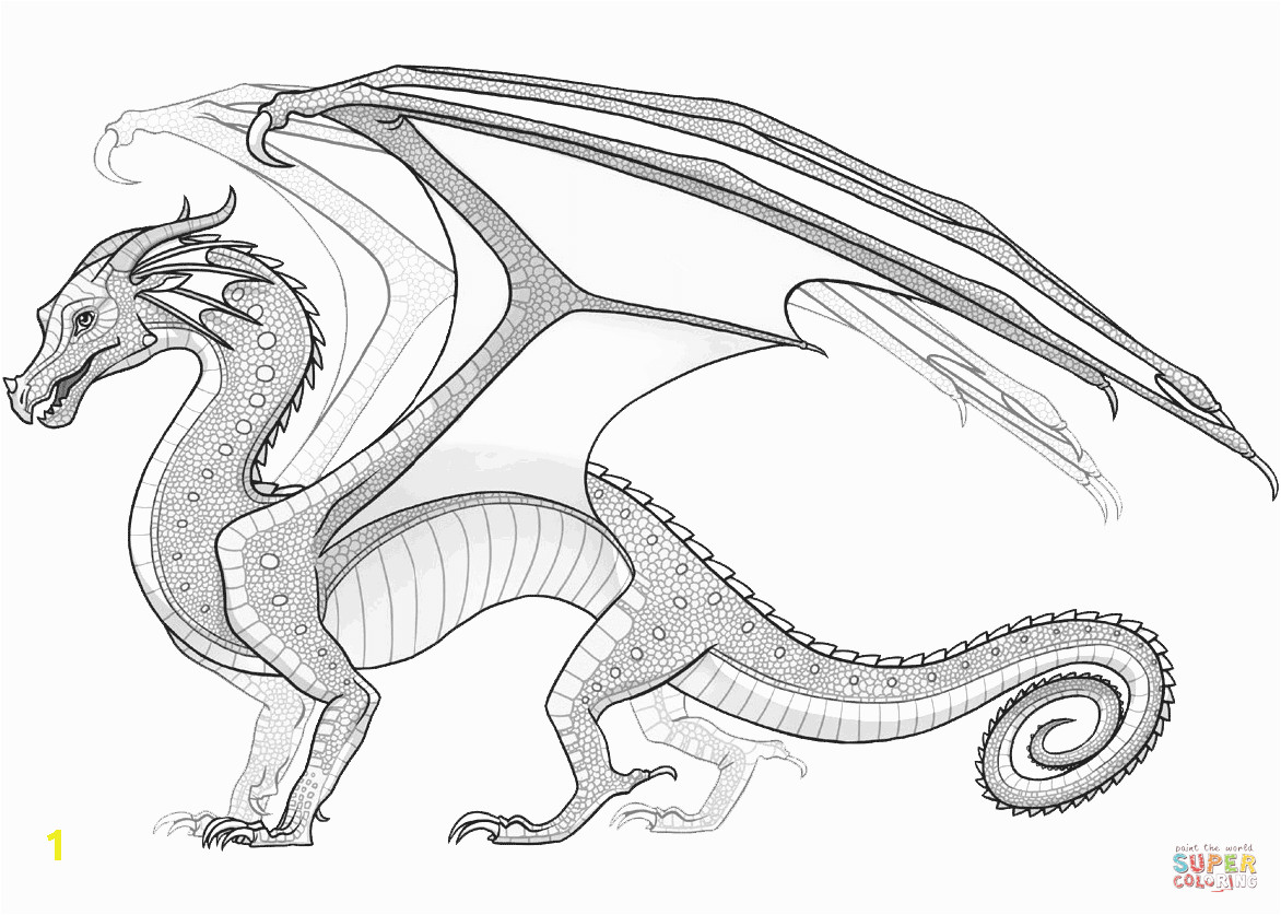 rainwing dragon from wings of fire coloring page fabulous pages printable photo inspirations campfire adults smokey the bear