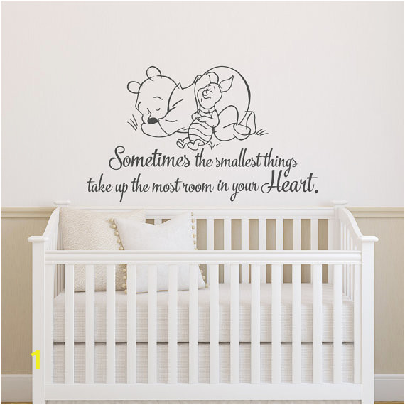 Winnie the Pooh Nursery Wall Murals Baby Nursery Wall Decals sometimes the Smallest Things Take