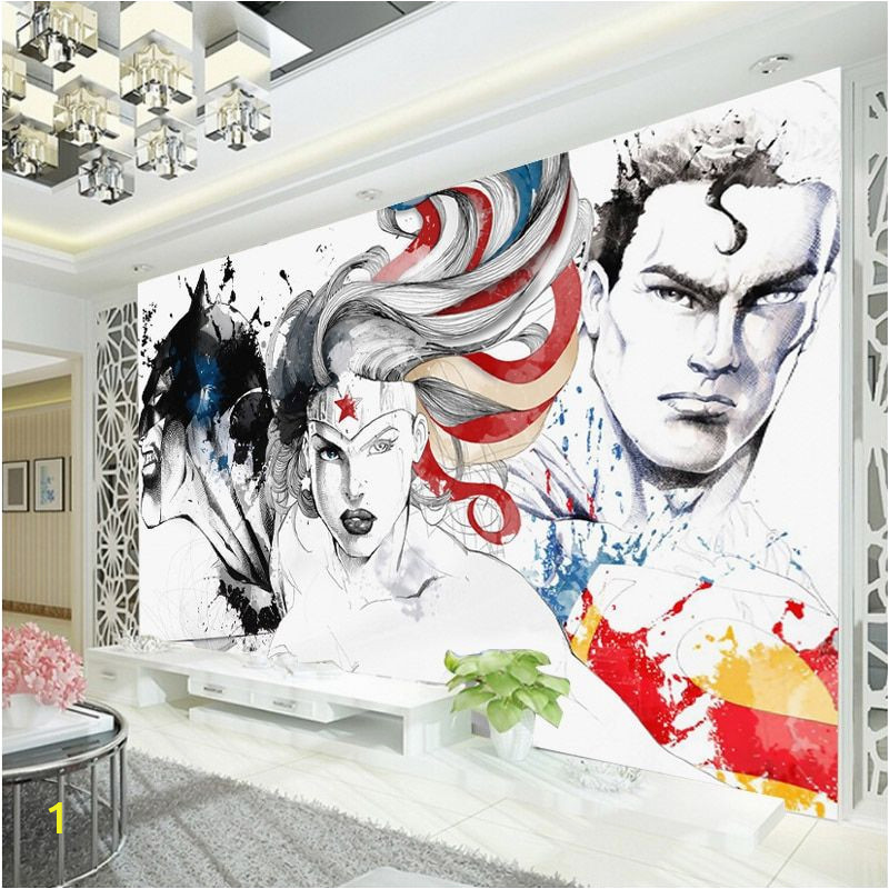 Wonder Woman Wall Mural Tanie Wonder Woman Batman Justice League 3d Fototapety