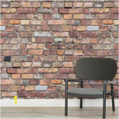 Wood Effect Wall Murals Mixed Brick Square Wall Murals