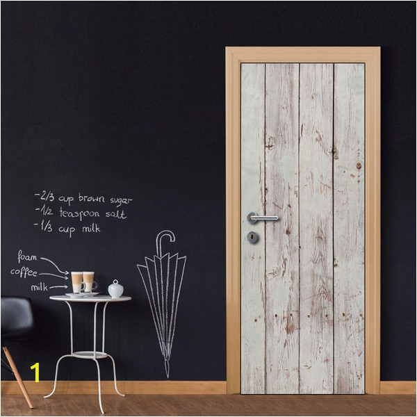 Wood Wall Mural Decal Door Wall Mural Wallpaper Stickers White Grey Wooden Gate Vinyl Removable Decals for Home Room Decoration Cheap Wall Sticker Cheap Wall Stickers From