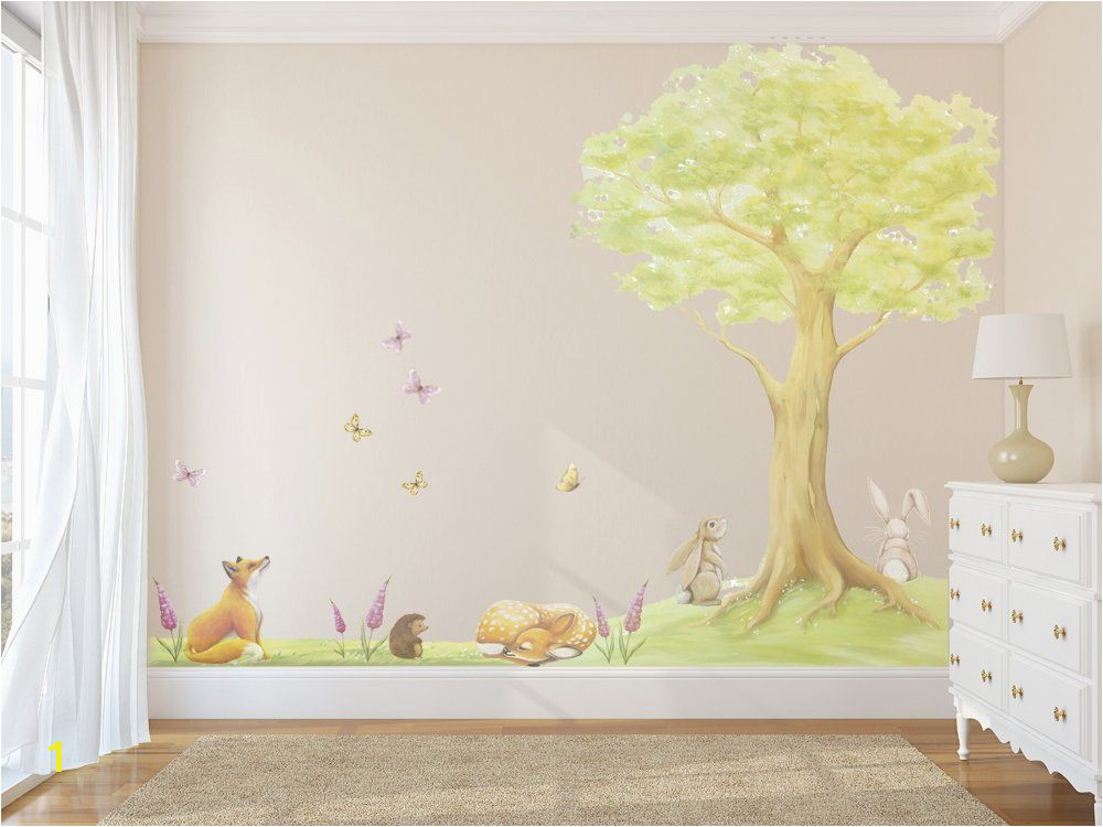 Woodland Fairy Wall Murals Fairy Tree Decal Tree Decals Tree Wall Sticker Tree Decal
