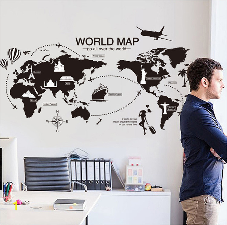world map wallpaper new creative world map large wall stickers home decor living room of world map wallpaper