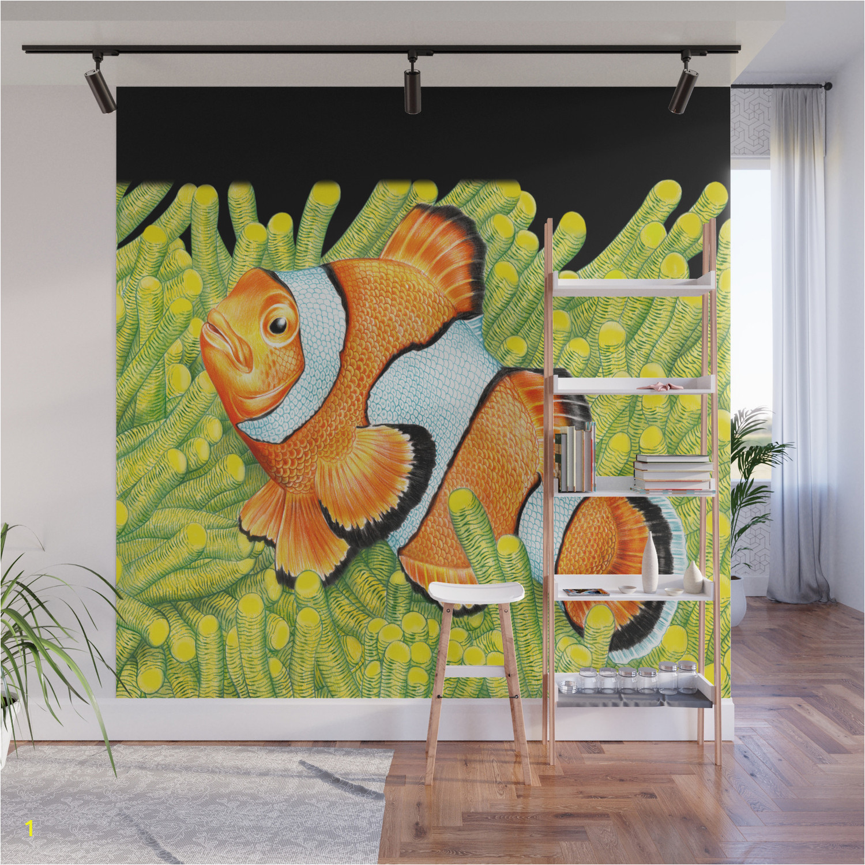 clownfish wall murals