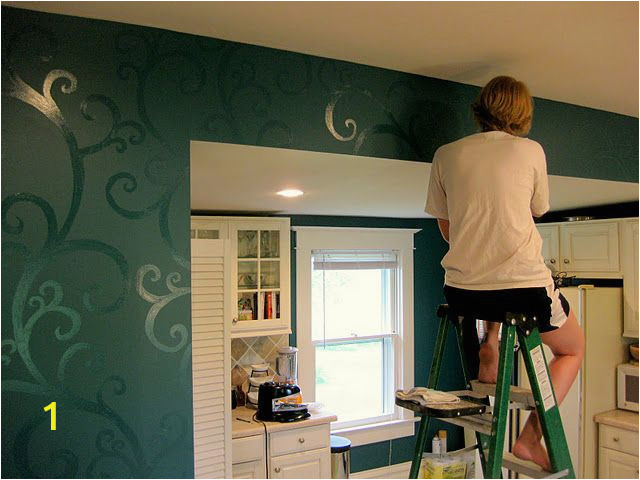 Young House Love Wall Mural Bud Kitchen Updates Accent Wall and Faux Painted