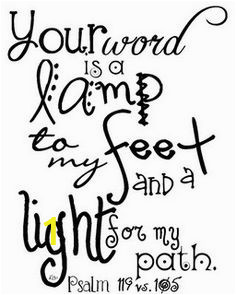 Your Word is A Lamp Unto My Feet Coloring Page 3
